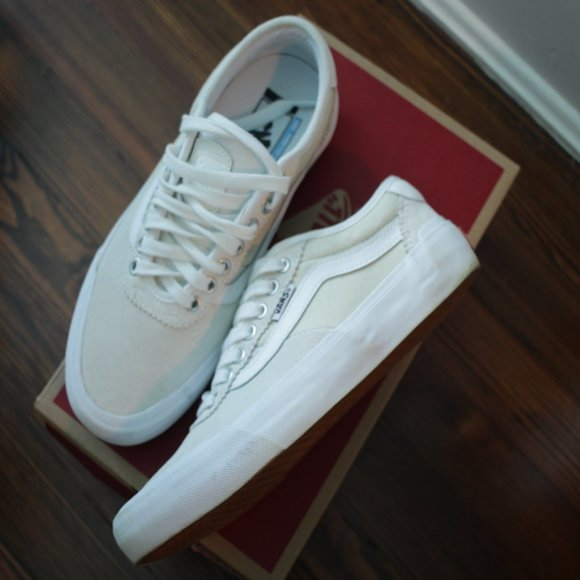 New Vans Chima Pro 2 White Skate Shoes